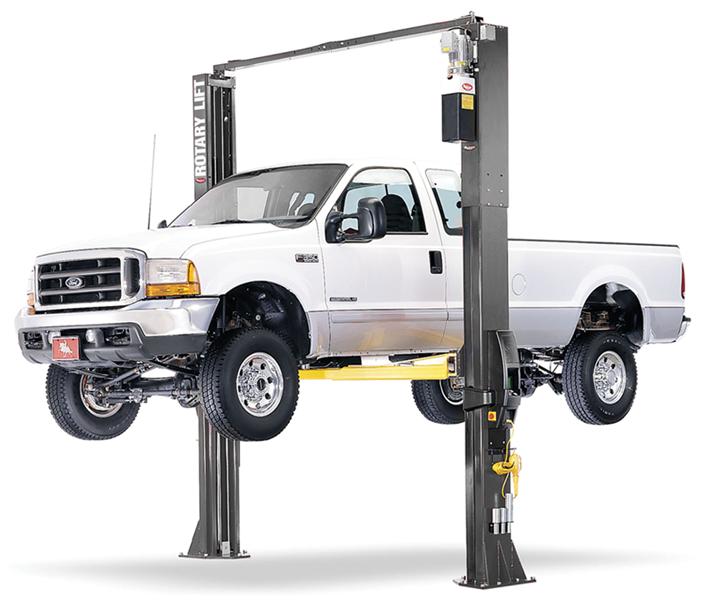 Auto Lift Tractor : Rotary spo two post lift range bullworthy garage equipment